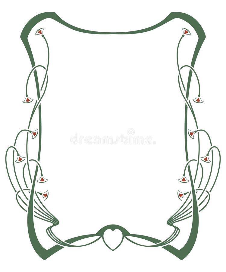 Vector abstract kader van de verbindende lijnen en de installaties royalty-vrije illustratie