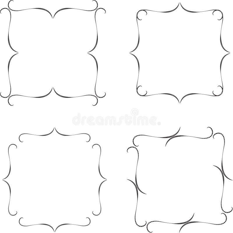 Vector abstract kader van de verbindende lijnen voor decoratie en ontwerp Rebecca 36 vector illustratie