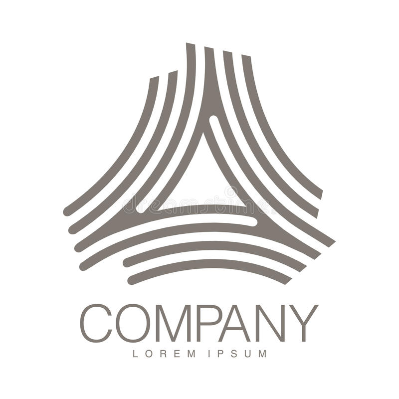 Vector abstract logo. Business Icons. Company identity. Icon isolated on white background. Graphic design for your design stock illustration
