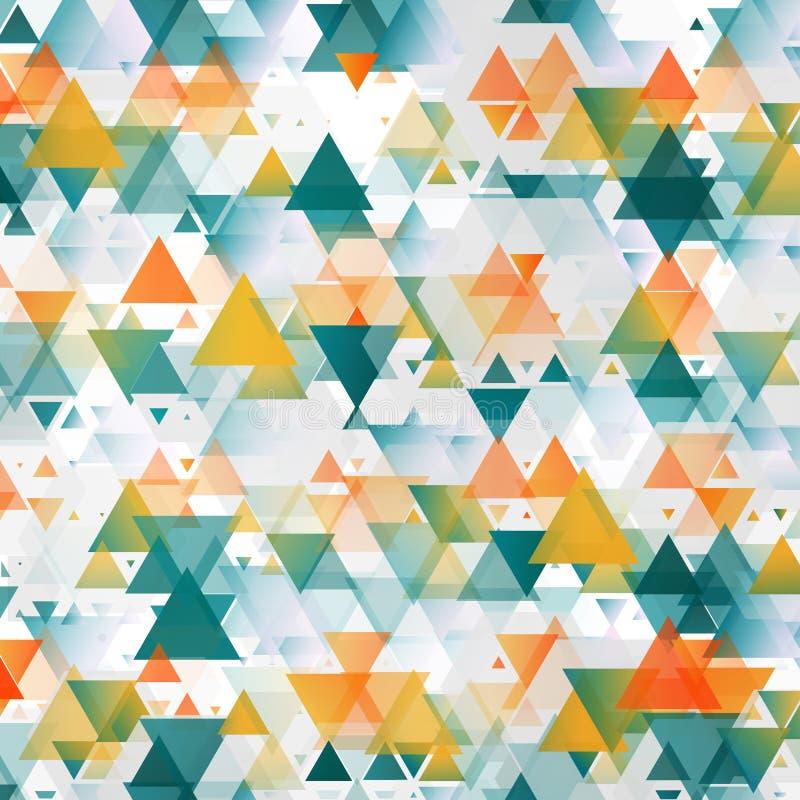 Vector abstract malplaatje Achtergrond met driehoek stock illustratie