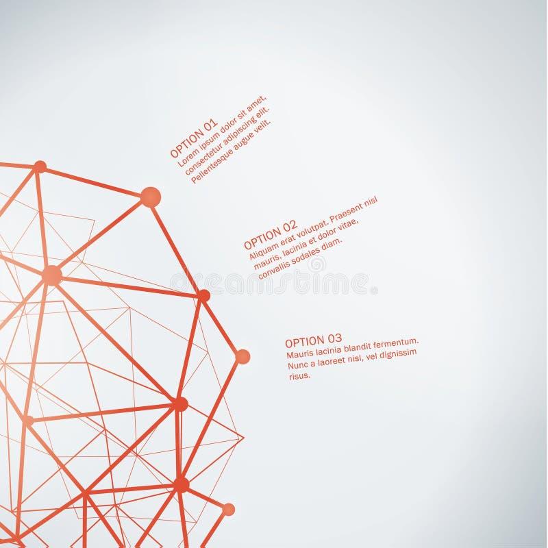 Vector abstract malplaatje Decoratieve banner vector illustratie