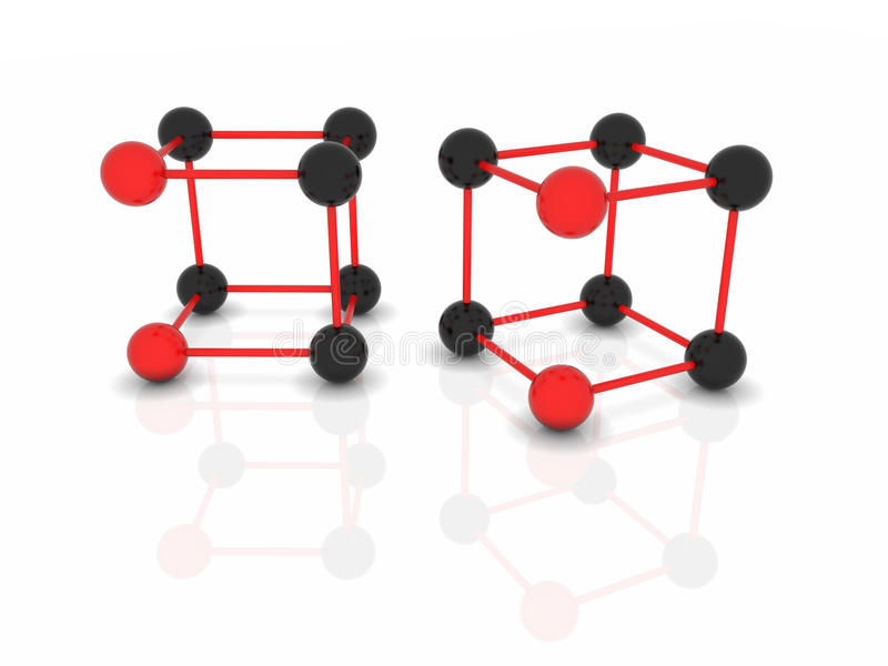 Vector abstract molecules royalty free illustration