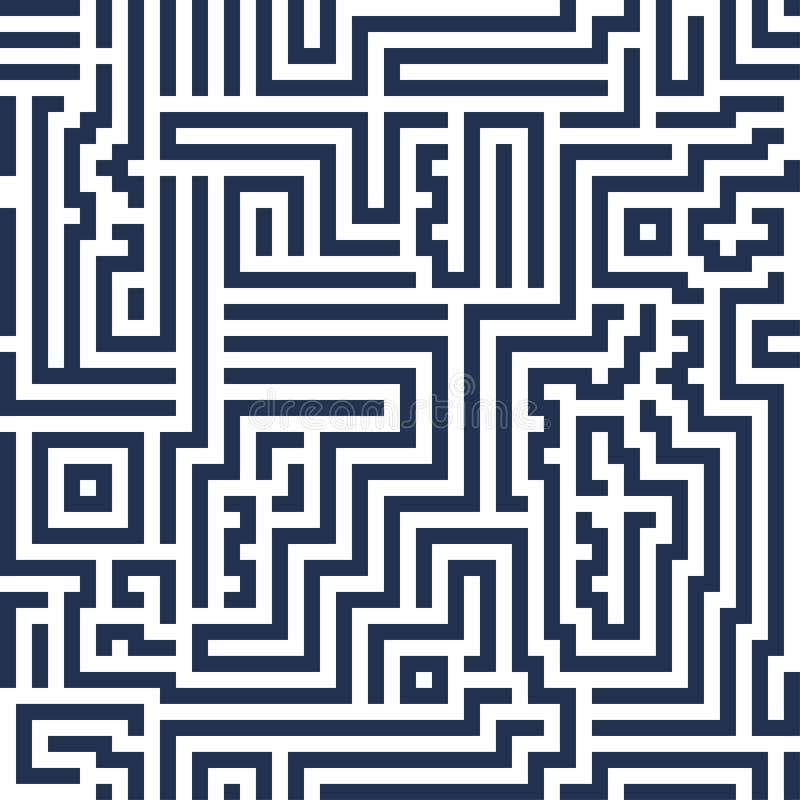 Vector abstract naadloos achtergrond modern lijnlabyrint decoratief stock afbeelding