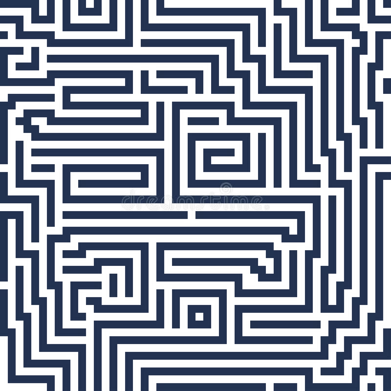 Vector abstract naadloos achtergrond modern lijnlabyrint decoratief stock foto's