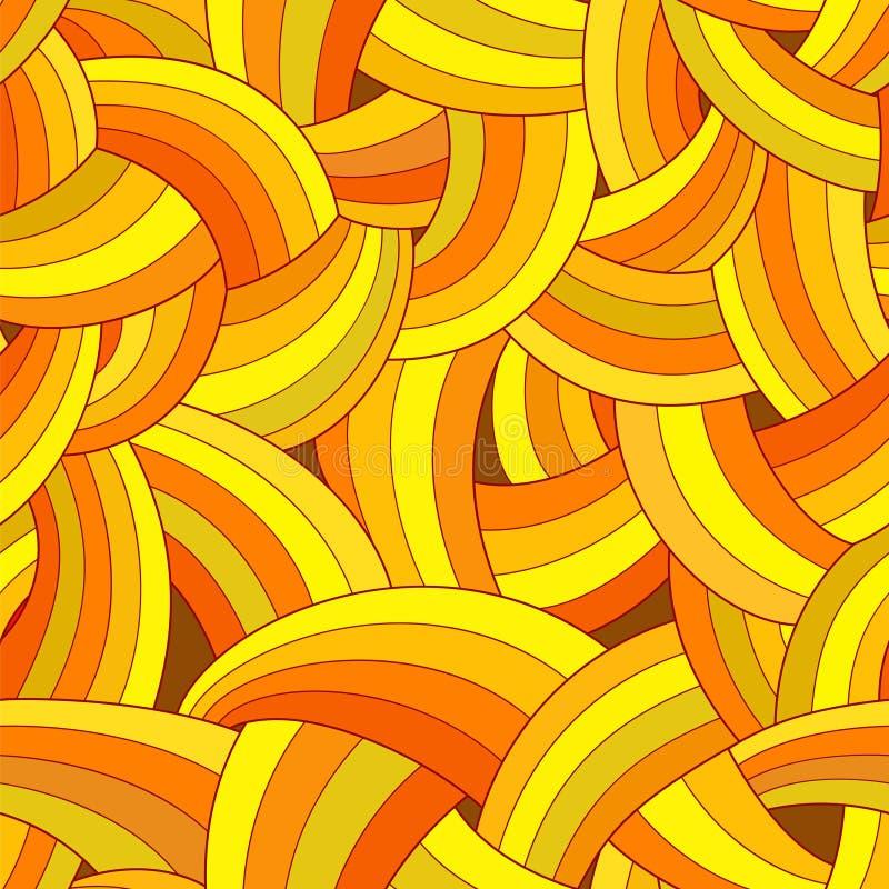 Vector abstract naadloos patroon Kleurrijke gele achtergrond stock illustratie