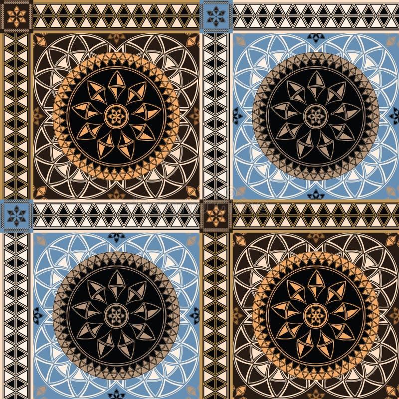 Vector abstract naadloos twee-colo betegeld patroon vector illustratie