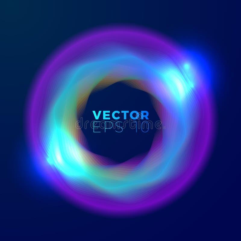 Vector abstract ontwerp met stroom van heldere vormen royalty-vrije illustratie