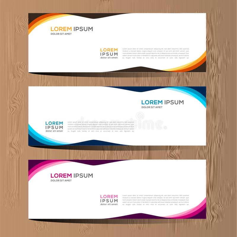 Vector abstract ontwerp voor het malplaatje en de achtergrond van het bannerweb Modern vectorontwerp eps 10 stock illustratie