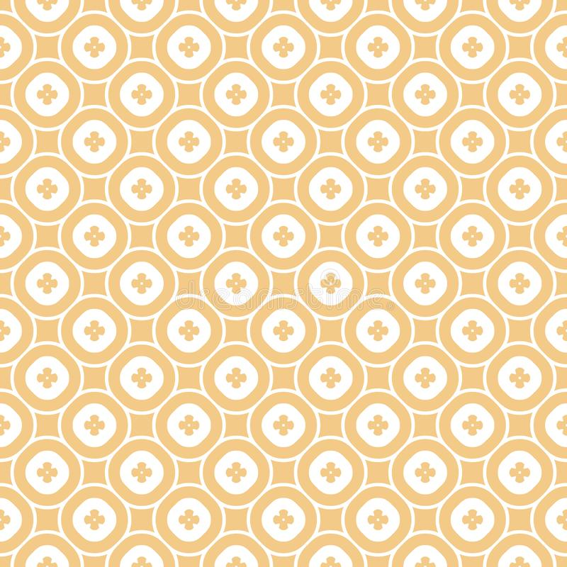 Vector abstract ornamental floral seamless pattern in beige tan and white colors. Vector abstract ornamental floral seamless pattern. Vintage geometric royalty free illustration