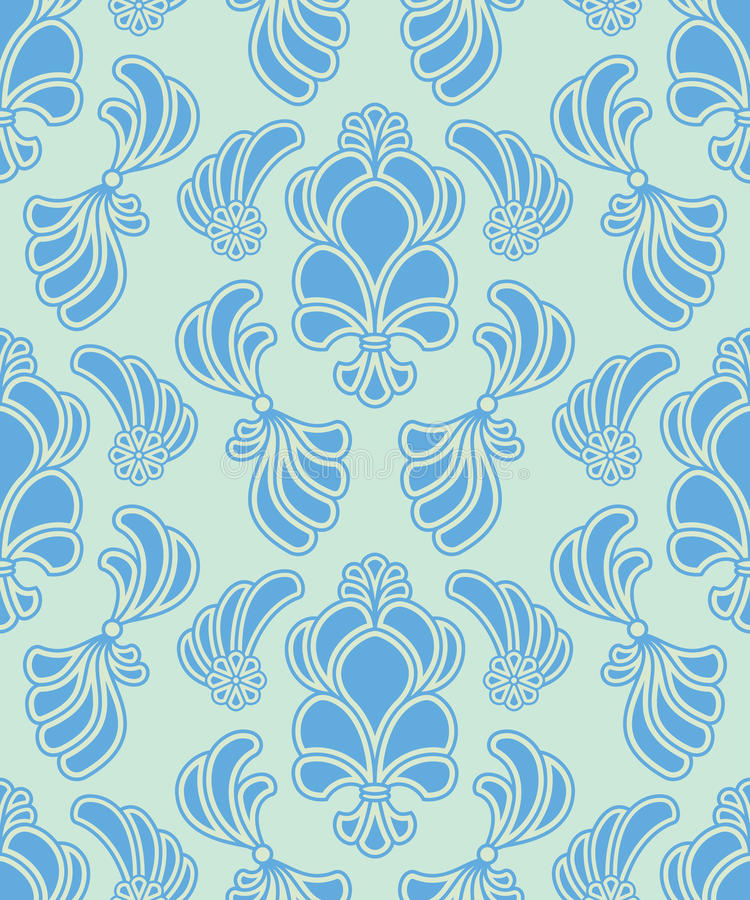 Free Vector Abstract Ornate Shelly Seamless Pattern Royalty Free Stock Images - 24739889