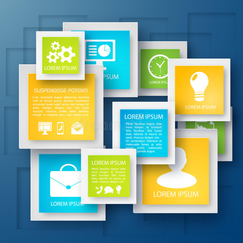 Vector abstract paper infographic background stock illustration