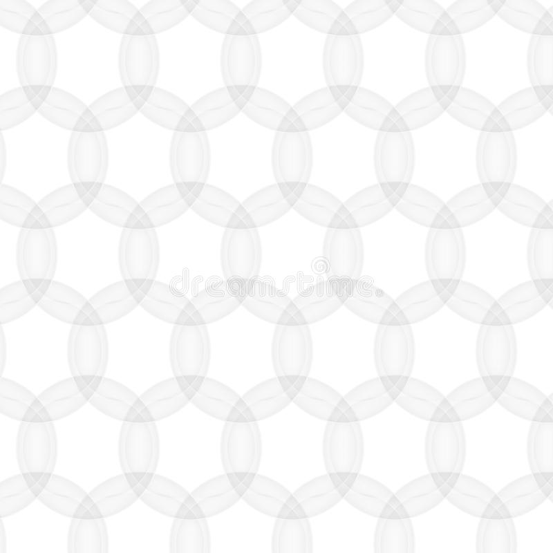 Vector abstract pattern seamless. white texture. circle mesh. Geometric modern on white background royalty free illustration