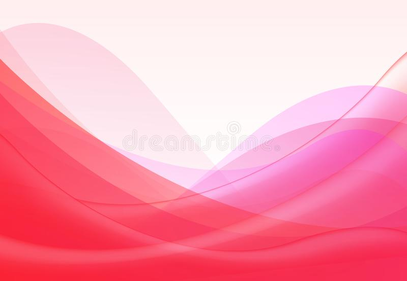 Vector abstract pink red wavy waves background, wallpaper. Brochure, design. on white background vector illustration