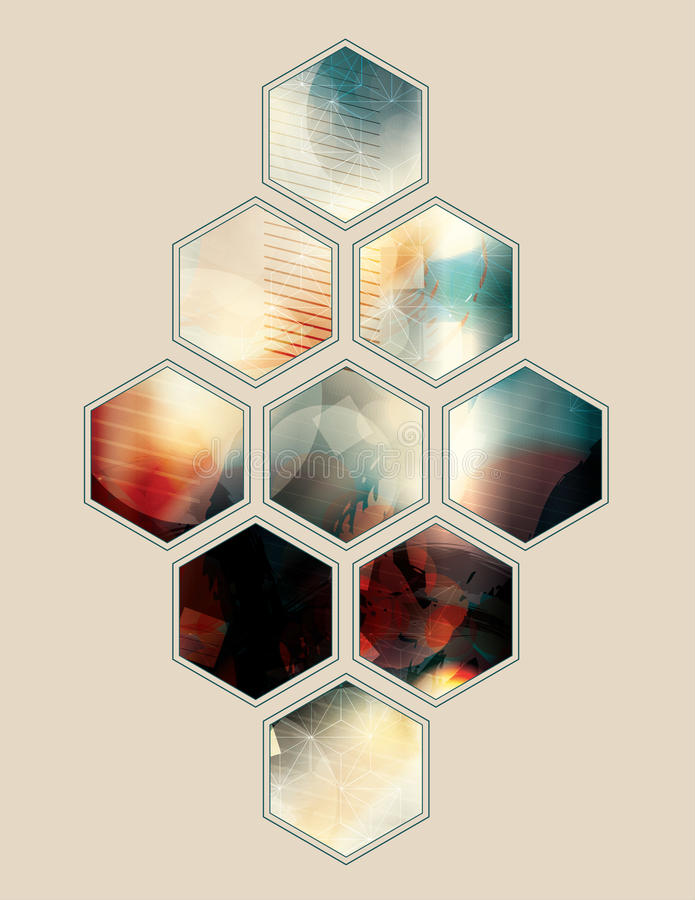 Vector abstract polygon shape background. Polygon shape abstract grunge background design royalty free illustration