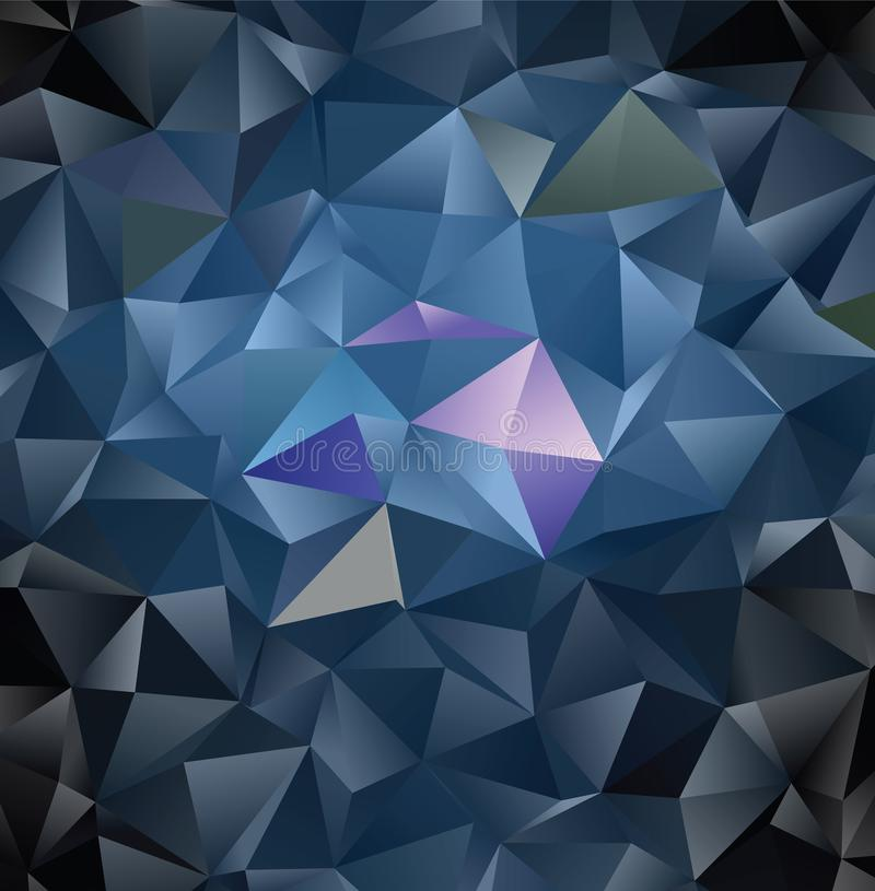 Vector abstract polygonal background. Creative vector clip art with triangles. Graphic resource for your design works. Creative abstract vector colorful royalty free illustration