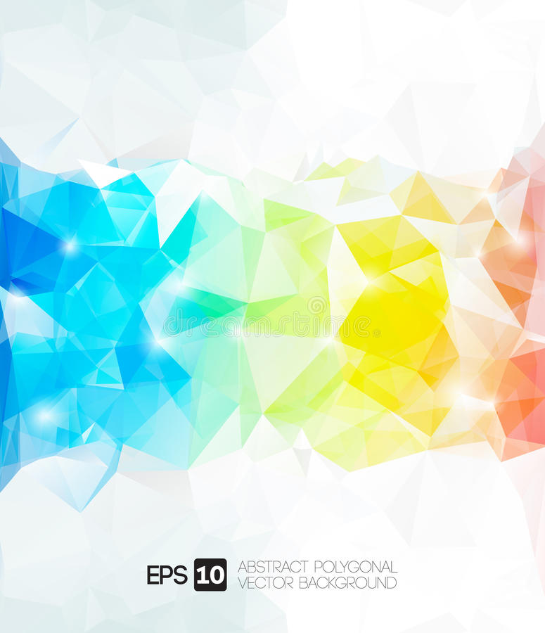 Vector abstract polygonal background royalty free illustration