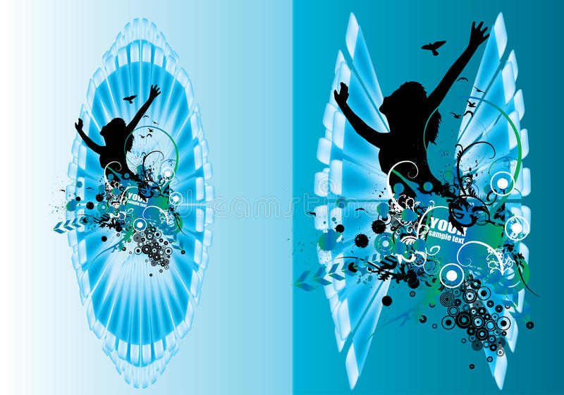 Vector abstract poster royalty free illustration