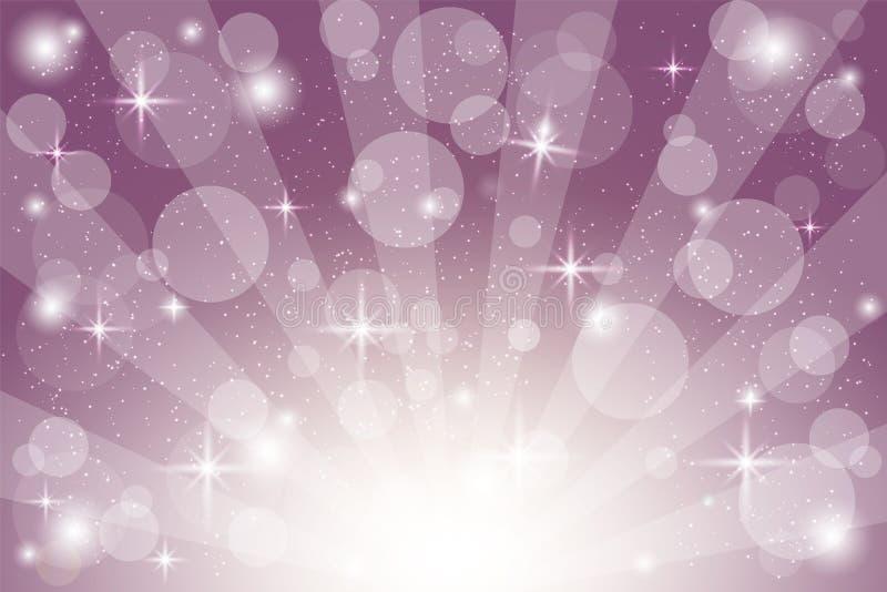 .Vector abstract purple star burst background illustration - Vector purple background template illustration stock illustration