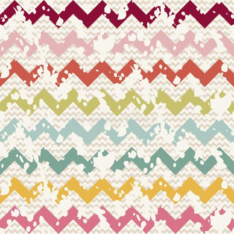 Vector Abstract retro geometrisch naadloos patroon royalty-vrije illustratie