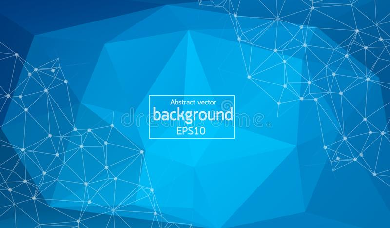 Vector Abstract science Background. Polygonal geometric design. EPS 10 vector illustration