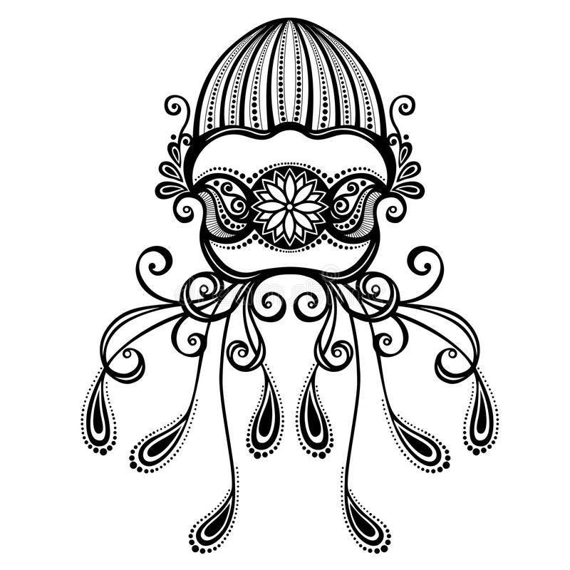 Free Vector Abstract Sea Jellyfish Royalty Free Stock Image - 35201226