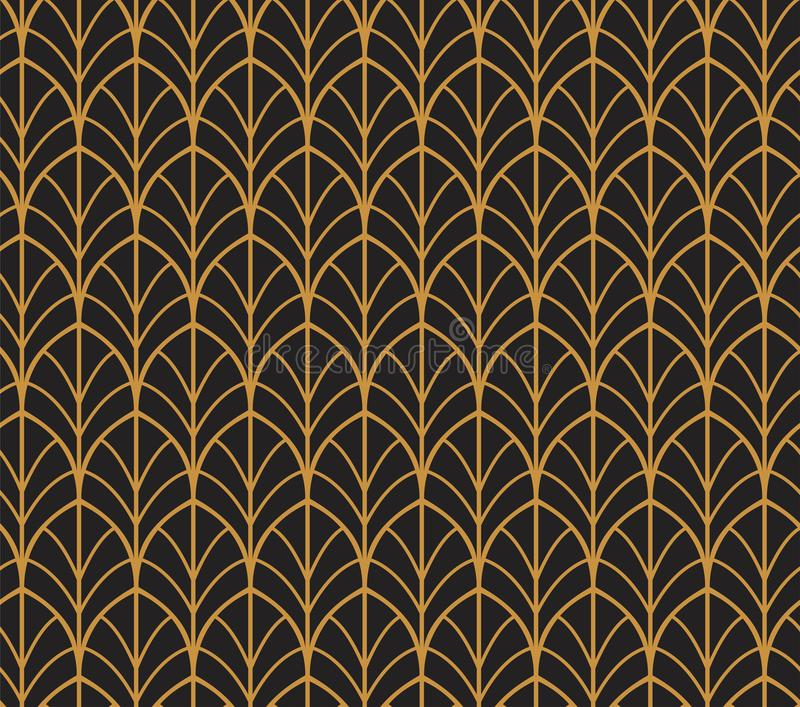 Vector Abstract Seamless Pattern. Art Deco Style Background. Geometric texture. royalty free illustration