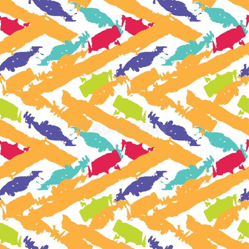 Vector abstract seamless wavy pattern vector illustration