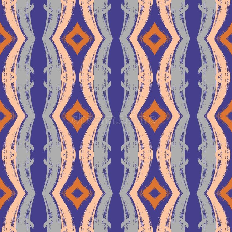 Vector abstract seamless wavy pattern stock illustration