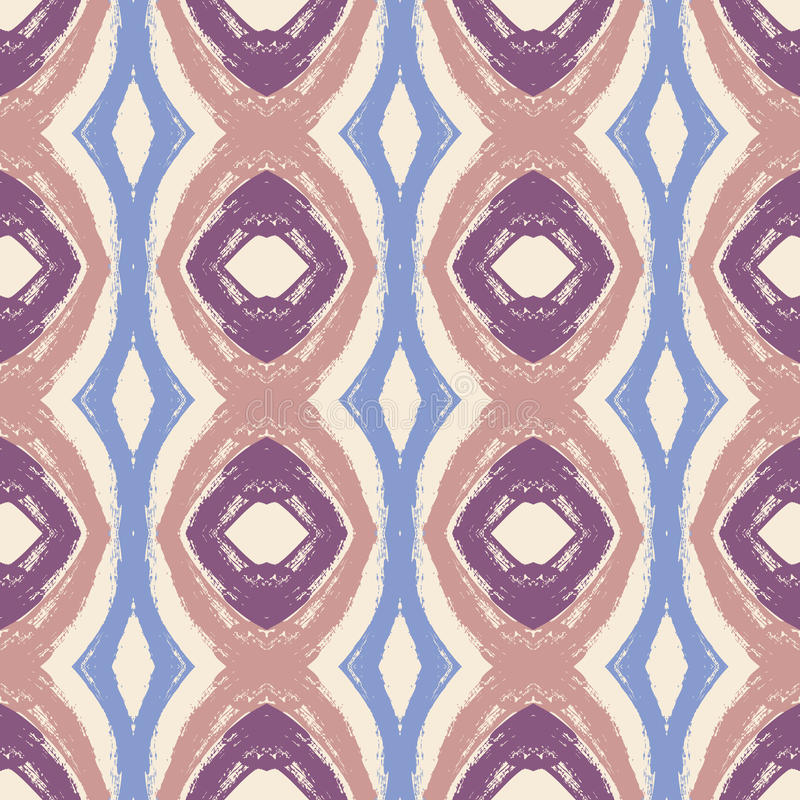 Vector abstract seamless wavy pattern royalty free illustration