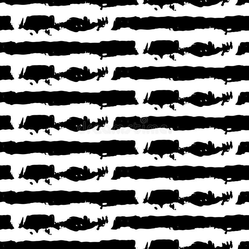 Vector abstract seamless wavy pattern. Vector illustration. Hand drawn brush strokes. royalty free illustration