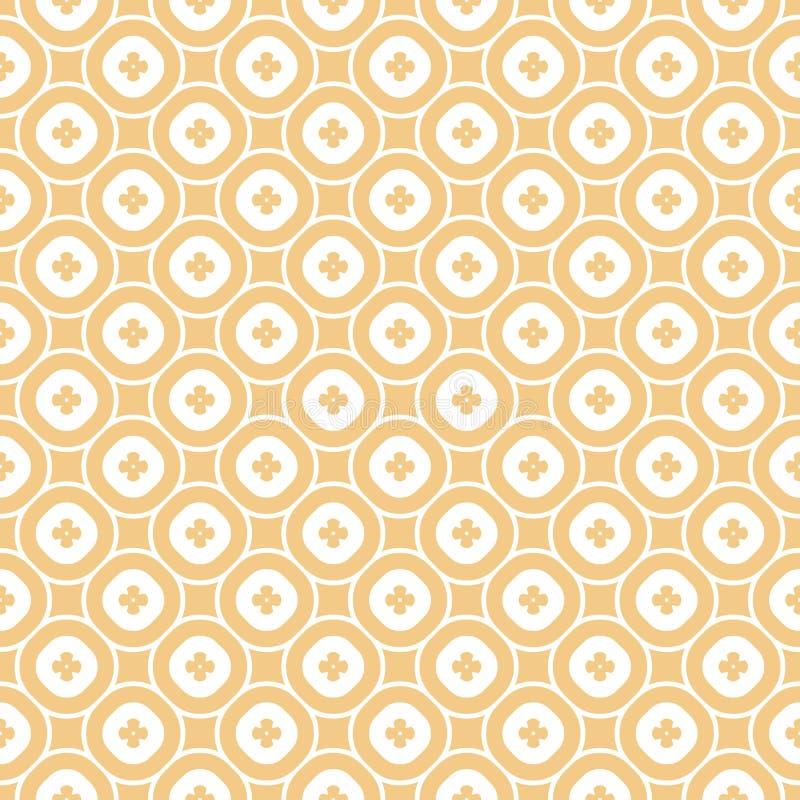 Vector abstract sier bloemen naadloos patroon in beige tan en witte kleuren royalty-vrije illustratie