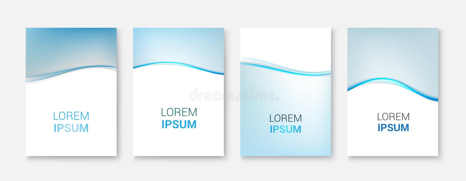 Vector Abstract smooth color blue wave background.Vector illustration eps 10 royalty free illustration