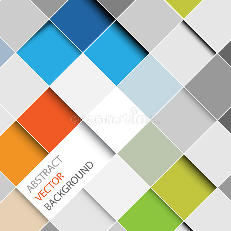 Vector abstract squares background illustration royalty free illustration