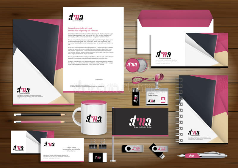 Vector abstract stationery Editable corporate identity template stock photo