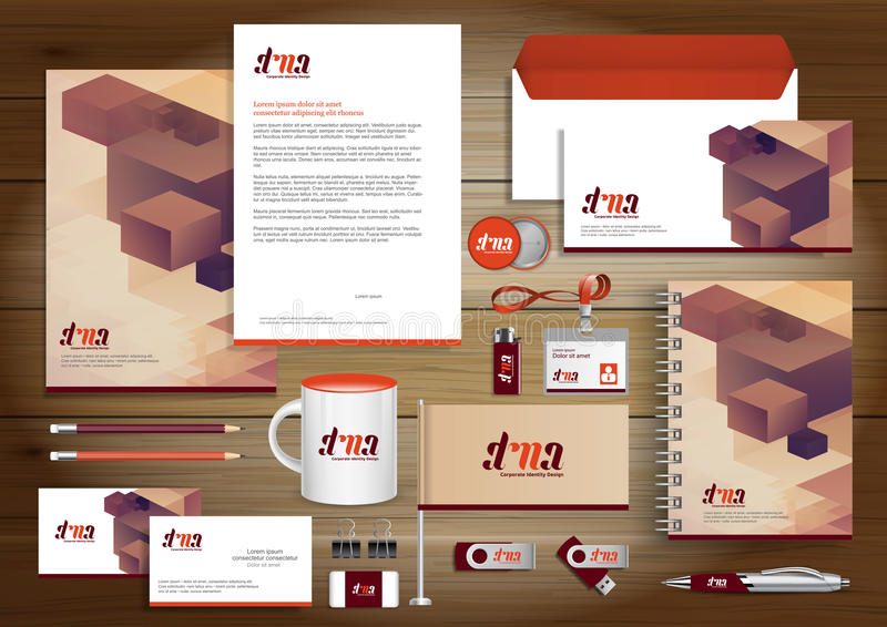 Vector abstract stationery Editable corporate identity template vector illustration