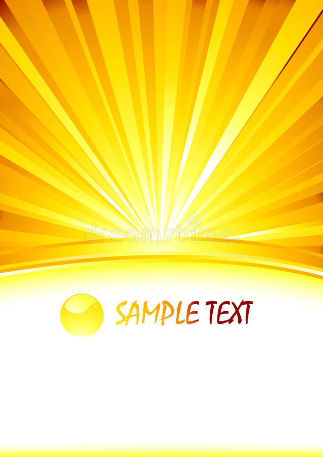 Vector Abstract Sunny Banner With Glass Sphere Stock Images