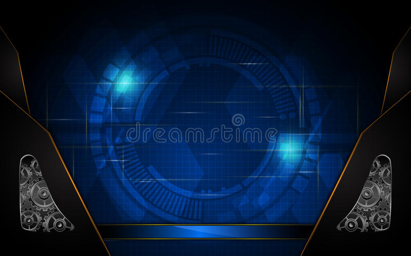 Vector abstract technology concept system working background stock illustration
