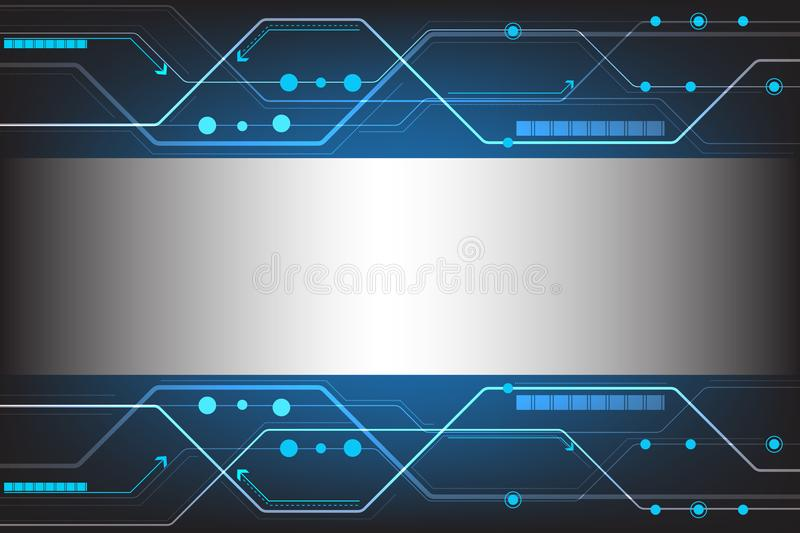 Vector abstract technology design. royalty free illustration
