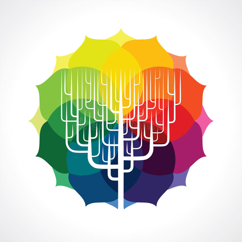 Vector of abstract tree icon stock illustration