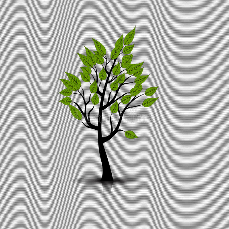 Vector of abstract tree icon royalty free illustration