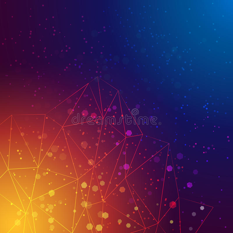 Vector abstract triangles background royalty free stock images
