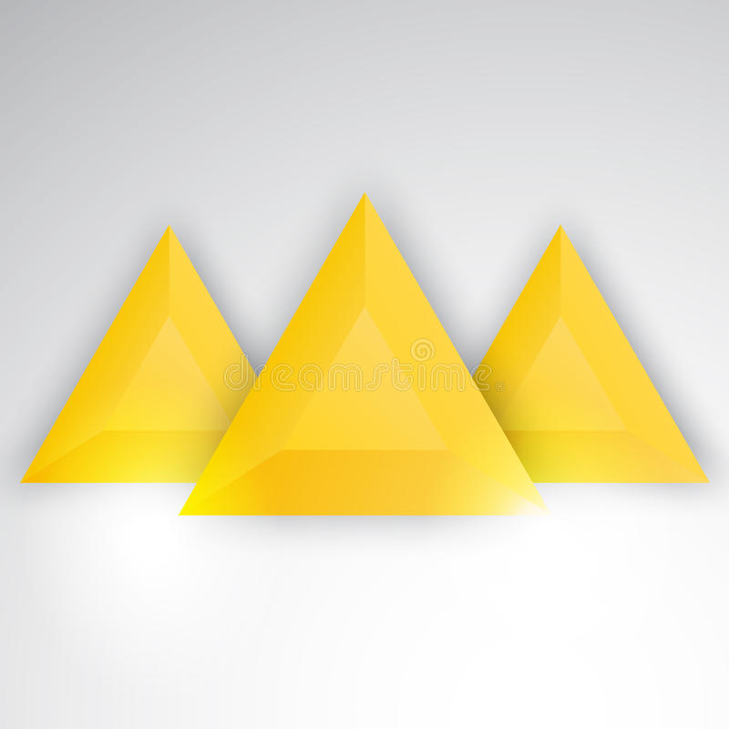 Vector abstract triangles template. Object web vector illustration