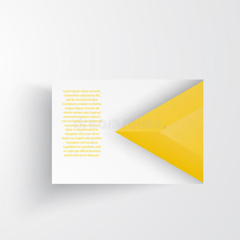 Vector abstract triangles template. Object web stock illustration