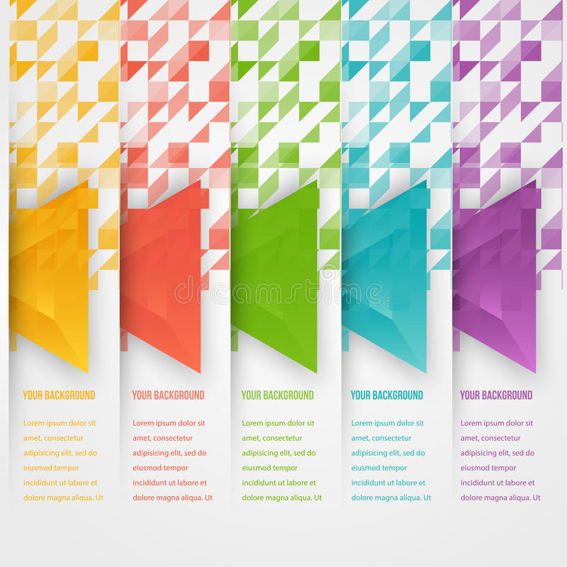 Vector abstract triangles template. Object web royalty free illustration