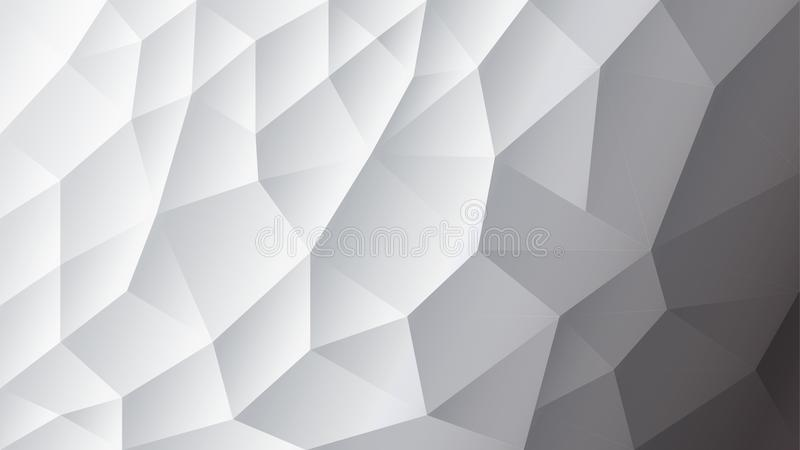 Vector abstract triangulated background | White background | Gray background | Illustrator Design vector illustration