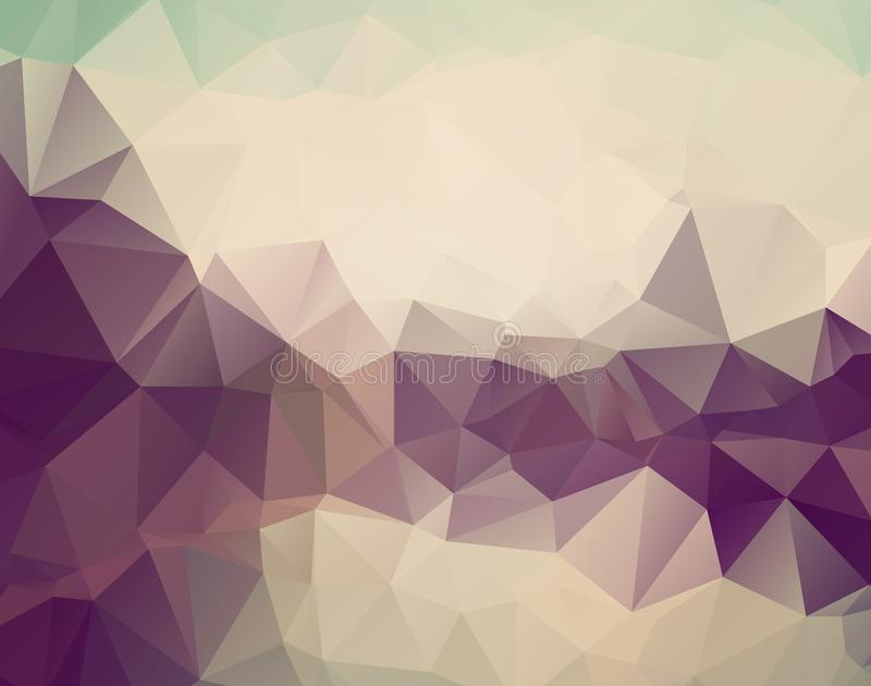 Vector abstract triangulated pale colorless background. Horizontal dynamic grey pattern. Geometric texture. Modern. Triangles. stock illustration