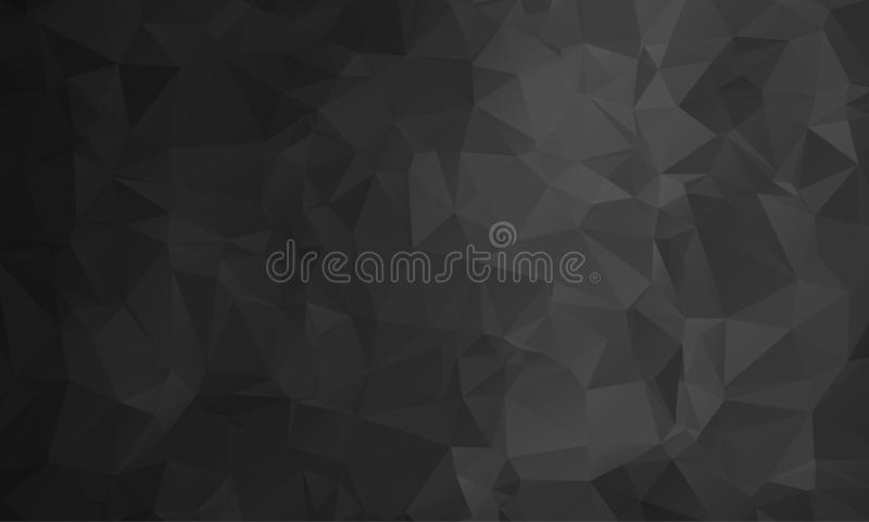 Vector abstract triangulated pale colorless background. Horizontal dynamic grey pattern. Geometric texture. Modern. Triangles. White, grey, black colors. Dark vector illustration