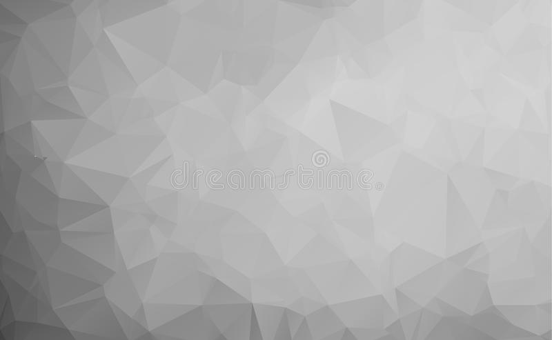 Vector abstract triangulated pale colorless background. Horizontal dynamic grey pattern. Geometric texture. Modern. Triangles. White, grey, black colors. Dark stock illustration