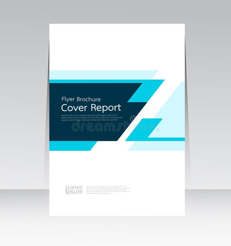 Vector abstract van het de dekkingsrapport van het ontwerpkader de affichemalplaatje stock illustratie