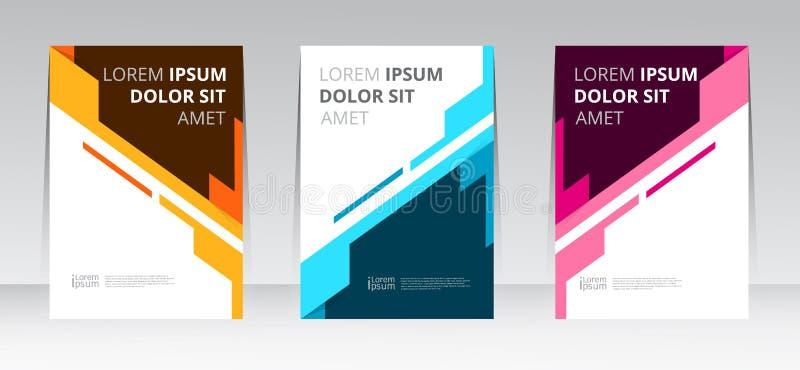 Vector abstract van het de dekkingsrapport van het ontwerpkader de affichemalplaatje vector illustratie